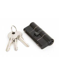 TS007 1 Star Rated - BS Kitemarked - 6 Pin Anti Snap Euro Profile Double Cylinders High Security Range - Key & Key - Matt Black