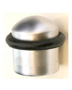 Floor Mounted Door Stop - 32mm Diameter - Satin Chrome