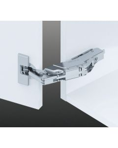 160° Overlay Hinge With Soft Close For Up To 36mm Thick Doors  + 0mm Mounting Plate