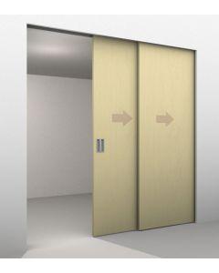 2 Door Telescopic Sliding Door Track Kit - Max Door Width Per Panel 1200mm - To Cover A Maximum Opening Of 2330mm - Max Panel Weight 80kg