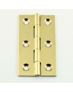 Small Cabinet Hinges - 75mm x 41mm - Polished Brass