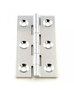 Small Polished Chrome Cabinet Hinges - 50mm x 28mm