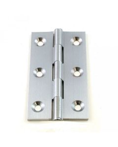 Small Satin Chrome Cabinet Hinges - 50mm x 28mm