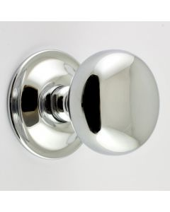 Concealed Fix - Bun Shape Architectural Quality Mortice Door Knobs - Polished Chrome