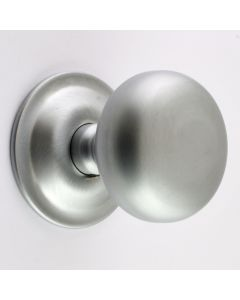 Concealed Fix - Bun Shape Architectural Quality Mortice Door Knobs - Satin Chrome