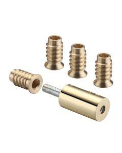 29mm Sash Stops - Sliding Sash Windows Locks - Polished Brass - Pack Of 2