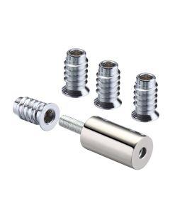 29mm Sash Stops - Sliding Sash Windows Locks - Polished Nickel - Pack Of 2