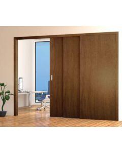 3 Door Telescopic Sliding Door Track Kit - Max Door Width Per Panel 1200mm - To Cover A Maximum Opening Of 3460mm - Max Panel Weight 80kg