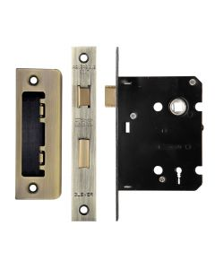 3 Lever Economy Mortice Sash Lock - Florentine Bronze (Antique Finish)
