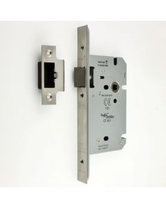 DIN Style Mortice Latch - 60mm Backset - Satin Stainless Steel