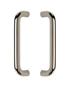 D Shaped Pull Handles - Back to Back Fixing Pair - Polished Stainless Steel
