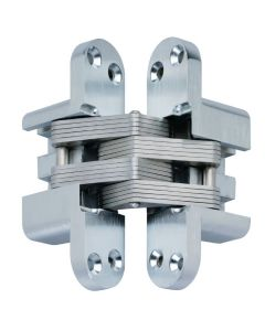 Concealed SOSS Style Hinges - 45mm x 12.4mm - Satin Chrome