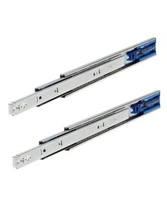 Soft Close - Ball Bearing Drawer Runners - Full Extension - Front Disconnect - 36kg Weight Limit - Zinc Plated