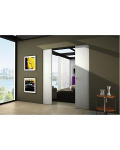 Eclisse Syntesis - Architrave Free Sliding Pocket Door System - Double Door Kit - To Suit 100mm Wall Thickness
