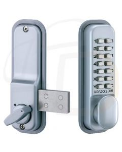 Codelock CL100 Mechanical Digital Lock With Surface Dead Bolt - Silver Finish