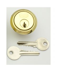 5 Pin Rim Cylinder To Suit Standard Yale Style Night Latch Locks - Polished Brass