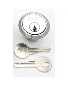 5 Pin Rim Cylinder To Suit Standard Yale Style Night Latch Locks - Polished Chrome