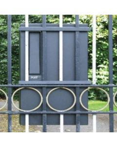 Gate or Railing Mounted Mailbox / Post Box - Black Finish