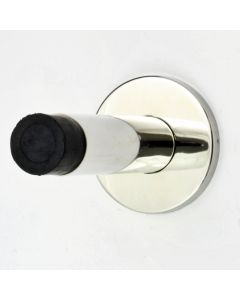 Modern Style Wall Mounted Door Stop - Polished Stainless Steel