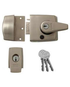 ERA High Security BS 3621 Rated Night Latch (Front Door Yale Lock) - Satin Nickel