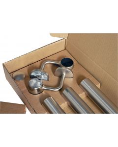 Straight Handrail Kit - For Internal Use - 3600mm Long - Satin (Brushed) Finish