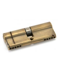 5 Pin Anti Snap Euro Profile Cylinder - Key / Key - Aged Brass