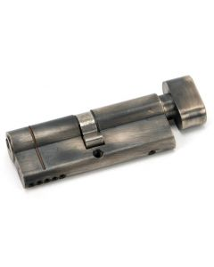 5 Pin Anti Snap Euro Profile Cylinder - Key / Turn - Pewter