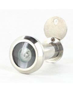 60 Minute Fire Rated Stainless Steel Door Viewer - Spy Hole For Front Doors 35mm - 55mm Thick - Polished Stainless Steel