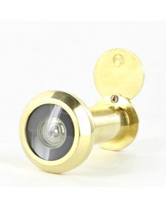 60 Minute Fire Rated Stainless Steel Door Viewer - Spy Hole For Front Doors 35mm - 55mm Thick - PVD Brass