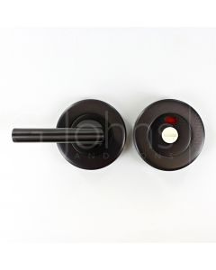 Accessible Bathroom Turn & Release With Red / White Indicator - Matt Bronze