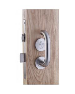 Accessible Roller Toilet Lock & Handle Set For Disabled WC Toilets - Satin Stainless Steel