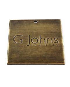 G Johns & Sons Ltd - Finish Sample Swatch - 50mm x 50mm - Antique Brass