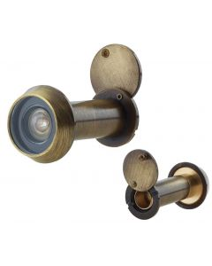 60 Minute Fire Rated Door Viewer - Spy Hole For Front Doors 35mm - 55mm Thick - Antique Brass