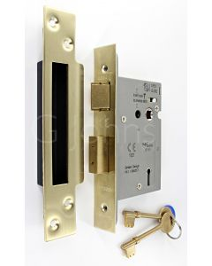3 Lever Architectural Quality Mortice Sash Lock - CE Marked - Fire Rated - Certifire Aprroved - Satin Brass
