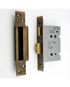 Architectural Quality Bathroom Mortice Lock - CE Marked - Fire Rated - Certifire Aprroved - Antique Brass