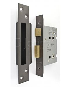 Architectural Quality Bathroom Mortice Lock - CE Marked - Fire Rated - Certifire Aprroved - Matt Bronze