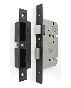Architectural Quality DIN Style Bathroom Mortice Lock - CE Marked - Fire Rated - Certifire Aprroved - Matt Black