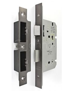 Architectural Quality DIN Style Bathroom Mortice Lock - CE Marked - Fire Rated - Certifire Aprroved - Matt Bronze