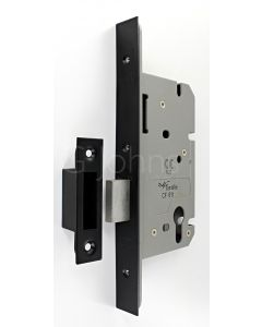 Architectural Quality DIN Style Euro Profile Mortice Deadlock - CE Marked - Fire Rated - Certifire Aprroved -  Matt Black