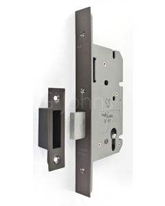 Architectural Quality DIN Style Euro Profile Mortice Deadlock - CE Marked - Fire Rated - Certifire Aprroved - Matt Bronze