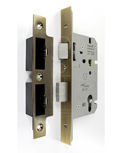 Architectural Quality DIN Style Euro Profile Sash Lock - CE Marked - Fire Rated - Certifire Aprroved - Antique Brass