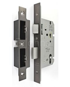 Architectural Quality DIN Style Euro Profile Sash Lock - CE Marked - Fire Rated - Certifire Aprroved - Matt Bronze