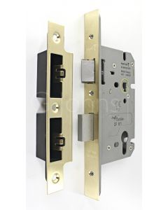 Architectural Quality DIN Style Euro Profile Sash Lock - CE Marked - Fire Rated - Certifire Aprroved - Satin Brass