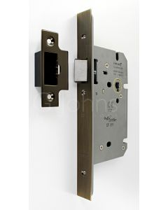 Architectural Quality DIN Style Mortice Latch - CE Marked - Fire Rated - Certifire Aprroved - Antique Brass