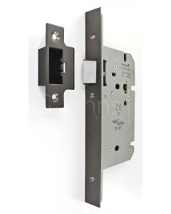 Architectural Quality DIN Style Mortice Latch - CE Marked - Fire Rated - Certifire Aprroved - Matt Bronze