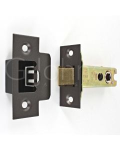 Architectural Quality Double Sprung Tubular Mortice Latch - CE Marked - Fire Rated - Certifire Aprroved - Matt Bronze
