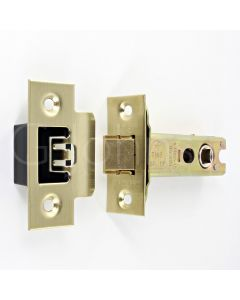 Architectural Quality Double Sprung Tubular Mortice Latch - CE Marked - Fire Rated - Certifire Aprroved - Satin Brass