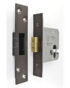 Architectural Quality Euro Profile Dead Lock Case - CE Marked - Fire Rated - Certifire Aprroved - Matt Bronze