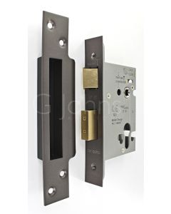 Architectural Quality Euro Profile Sash Lock Case - CE Marked - Fire Rated - Certifire Aprroved - Matt Bronze
