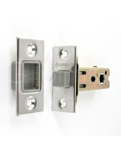 Architectural Quality Magnetic Tubular Mortice Latch - Polished Stainless Steel